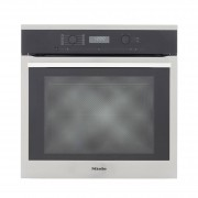 Miele ContourLine H6160B CleanSteel Single Built In Electric Oven - Stainless Steel