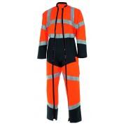 CEPOVETT combinaison 2 ZIP orange fluo/gris charcoal