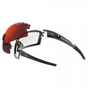 Tifosi Pro Escalate Shield & Full Sunglasses - Gloss Black/Clarion Red