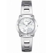 s.Oliver Damen-Armbanduhr Edelstahl silber SO-1387-MQ