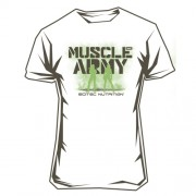 Camiseta Chica Muscle Army Blanca