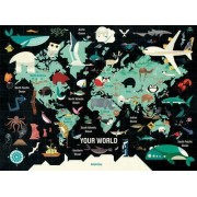Map of the World 1000 Piece Family Puzzle by Mudpuppy Press