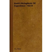 Kant's Metaphysic Of Experience - Vol II by H.J. Paton