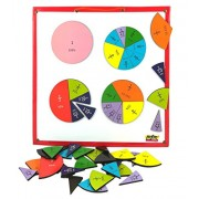 MFM Toys Fractions & Percentage Circles ~ Magnetic Maths Manipulatives for classroom/home | (Doesn't include magnetic board)