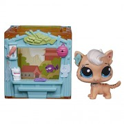 Littlest Pet Shop Mini Style Set with Meow Meow Milkone Figure by Hasbro