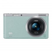 """Samsung NX Mini 20.5MP CMOS Smart WiFi & NFC Mirrorless Digital Camera with 9-27mm Lens and 3"""" Flip Up LCD Touch Screen (Mint Green)"""