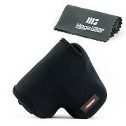 MegaGear ''Ultra Light'' Neoprene Camera Case Bag with Carabiner for Canon PowerShot SX60 HS Digital Camera (Black)
