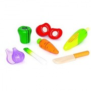 Hape - Playfully Delicious - Garden Vegetables Wooden Play Food Set