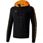 Erima GRAFFIC 5-C HOODY fekete/narancs pulóver