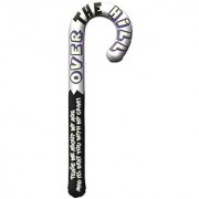 The Party Continuous Adult Birthday Party Over The Hill Inflatable Jumbo Cane Novelties Silver/Black 43 plastic