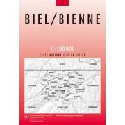Fietskaart - Topografische kaart - Wegenkaart - landkaart 31 Biel/Bienne | Swisstopo