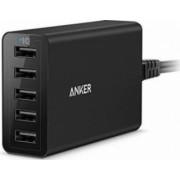 Incarcator de Retea Anker PowerPort 40W 5 Porturi USB Negru