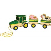 Learning Curve John Deere - Wooden Animal Fun Ride