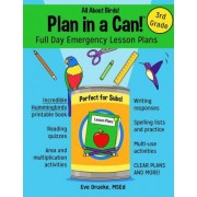 Plan in a Can! Full Day Emergency Lesson Plans for 3rd Grade by Eve Drueke
