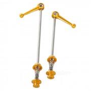 AEST CNC aleacion de titanio conico de bicicletas Cierres rapidos - Golden