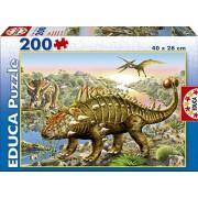 Educa 15264 Dinosauri Puzzle, 200 pezzi