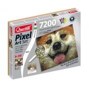 Quercetti - Pixel Art, set de creatividad, 7200 piezas en 6 colores, 37 x 33 cm, diseño perro (QA0815)
