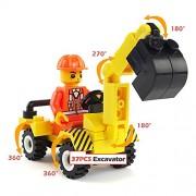 VANKER 6 Set / 52 Pcs Construction Vehicle Team Building Blocks Puzzle Juguetes Para Niños