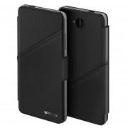 Husa Premium Mozo Book Thin Flip pentru Microsoft Lumia 650, Black Golf