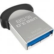 USB DRIVE, 16GB, Sandisk Ultra Fit, USB 3.0, Black (CZ43-016G-GAM46)