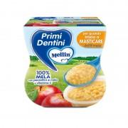 Mellin Primi Dentini Mela - Confezione da 200 g ℮ (2 vasetti x 100 g)