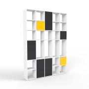 Wohnwand Weiß, MDF, 194 cm x 271 cm x 34 cm