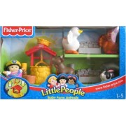 Little People - Baby Farm Animals w Sonya Lee & Animals - 2003 Fisher Price Playset