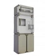 Egyfázisú fogyasztásmérőhöz 2db alsó 150x300x170mm kábelfogadó és elmenő PVT 3030 FSK2 - F 12 ÁK