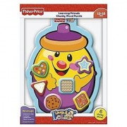 Fisher-Price Cookie Jar Shapes Learning Friends Chunky Wood Puzzle (Laugh and Learn) 6-Piece