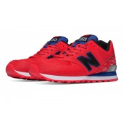 New Balance 574 Summer Waves Red with White
