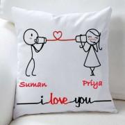 Whispering I Love You Personalized Cushion