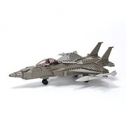 Ultimate Soldier Fighter Jet Military Building Kit Grey