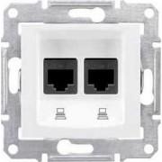 SEDNA Kettes adatcsatlakozó Utp Cat.6 Rj45 IP20 Fehér SDN4800121 - Schneider Electric