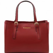 Sac Cabas Cuir Rouge Femme Nouvelle Collection -Tuscany Leather-