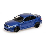 2011 Bmw 1 Er Coupe In Blue Metallic Diecast Model Car In 1:43 Scale By Minichamps