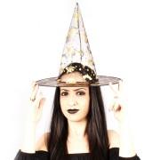 Kit Chapéu de Bruxa Halloween Transparente - 18 Unidades