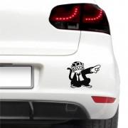 Sticker auto - Maimuta nervoasa