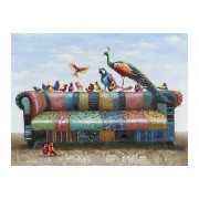 Sofa Birds Canvastavla - 115x160