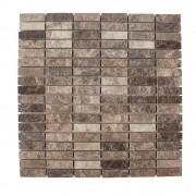 Mozaic Marmura Dark Emperador Polisata 4.7 x 1.4 cm