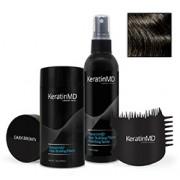 KeratinMD HAIR BUILDING FIBERS (Dark Brown) VALUE PACK