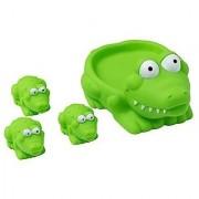 Kidelle(TM) Bath Toys Squeaky Mamma Alligator 3 baby Alligators for Kids Water Fun
