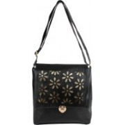 Yours Luggage Women Black Leatherette Sling Bag