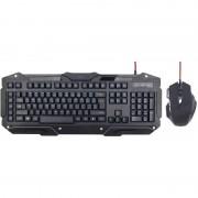 Kit tastatura si mouse Gembird KB-UMGL-01+MUSG-02 USB Black
