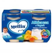 Mellin Merende yogurt - Merenda Yogurt Albicocca - Confezione da 240 g ℮ (2 vasetti x 120 g)