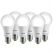 5W E26/E27 Lâmpada Redonda LED A60(A19) 1 COB 400-450 lm Branco Quente / Branco Frio Decorativa AC 100-240 V 6 pçs