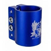 Grit Quad Clamp 34.9mm w Logo - Anodized Blue