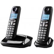 Telefon DECT GRUNDIG D160 Duo, negru, fara fir