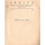 Arhiva pentru Știință și Reformă Socială. Organ al Institutului Social Român. Anul VIII