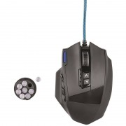 Mouse gaming Hama uRage MMORPG Black