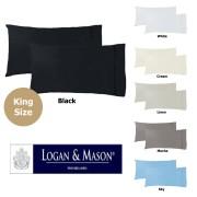 Pair of King Sized Pillowcases by Logan & Mason